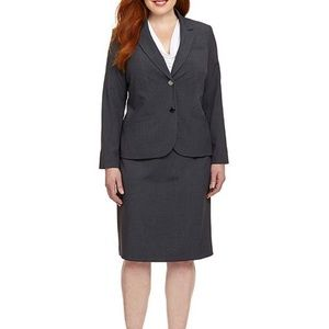 NWT Calvin Klein 20W Grey Suit Blazer Pencil Skirt